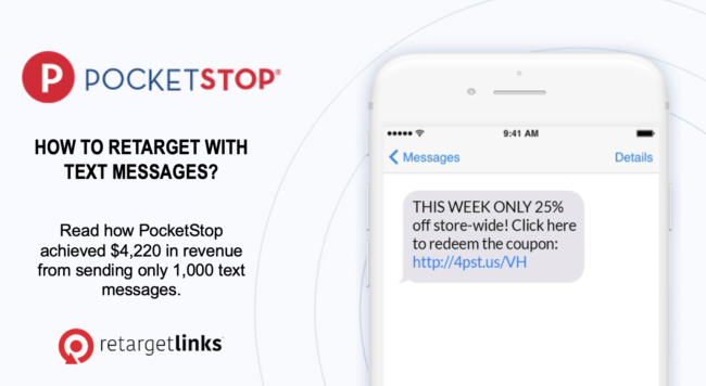 Text message retargeting